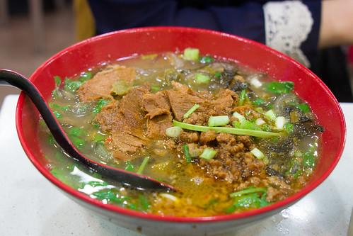 Pさま點的則是小麻辣腩肉的湯粉版本