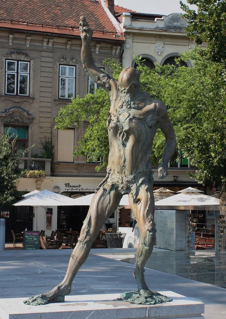 Man statue Ljubljana Slovenia