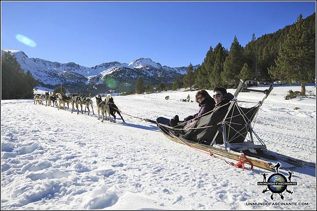 Andorra, Grandvalira. Mushing - Trineo de Perros.