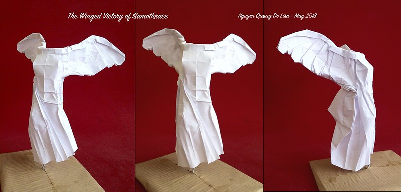 Origami Winged Victory of Samothrace