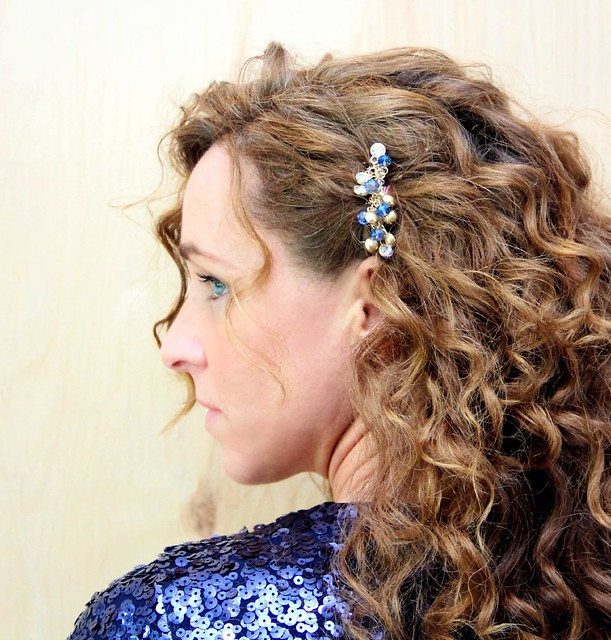 how to make a diy bhldn inspired hair comb via kristina j blog