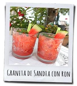 Een lekker verkoelende Granita van meloen met rum