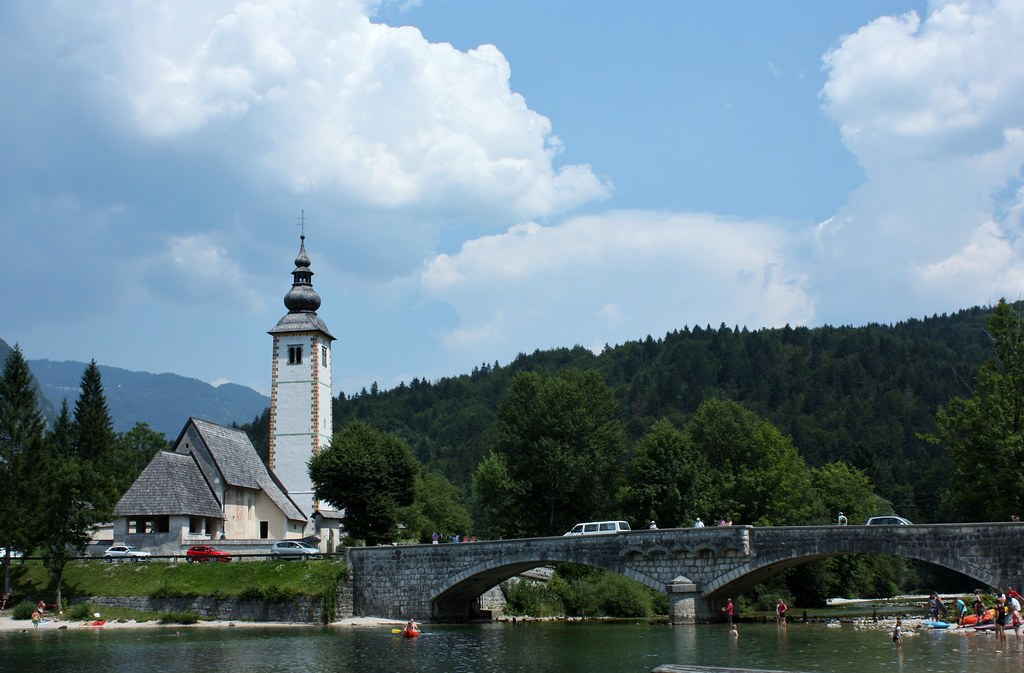 St John the Baptist Church next to Lake Bohinj in Triglav National Park