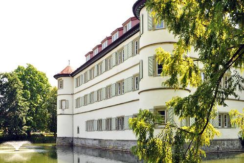 Bad Rappenau Kraichgau Kurklinik Rehaklinik See Kurpark Salinenpark Schlosspark Wasserschloss Foto Brigitte Stolle 2015