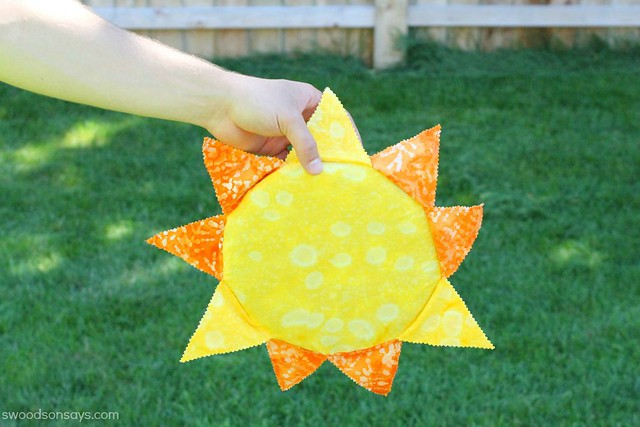 sun sewing project frisbee cover