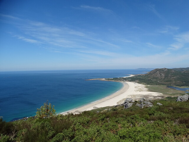 Playa de Area Maior desde monte Louro