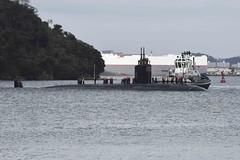 USS Pasadena (SSN 752) arrives at Fleet Activities Yokosuka, Dec. 22. (U.S. Navy/MC2 Brian G. Reynolds)