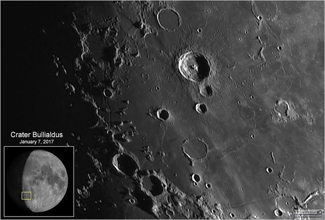 Bullialdus Crater – January 7, 2017