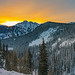 Sunrise at Twilight Peak in Winter by Matt Payne Photography