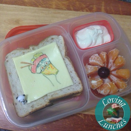 Loving a quickie #MrPing in our @easylunchboxes for tomorrow… MissM wants this *plus* a serve of noodles! We were blessed with a good eater with that one 😉 #schoollunch #cheesart #easylunchboxes