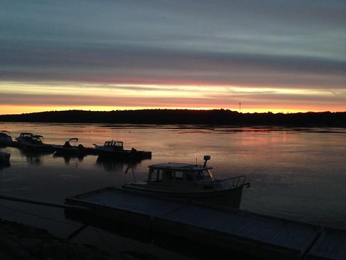 sunrise river waterfront running