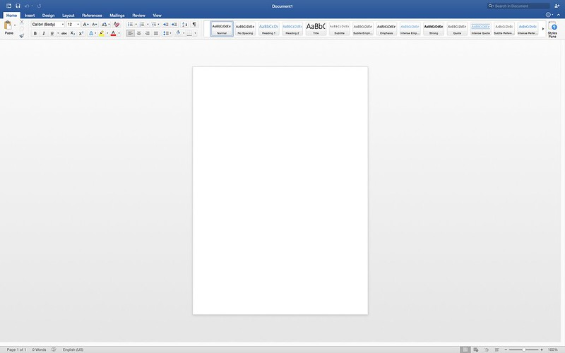 Word - Microsoft Office 2016 For Mac