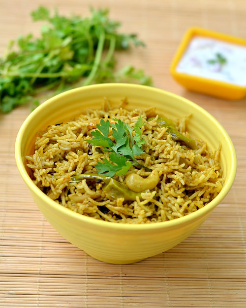 Kothamalli biryani recipe