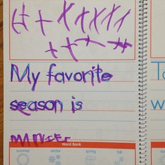 Ashlin's favorite season is #winter. Can you tell in that #snowstorm?