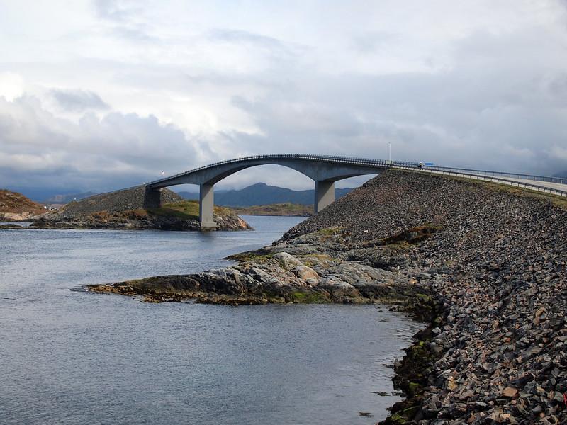 Storseisundet Bridge on the Atlantic Ocean Road in Norway