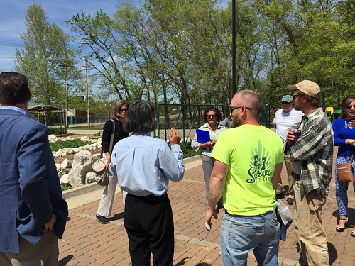 Federal local food experts met with community leaders to determine a successful site for a new farmers market