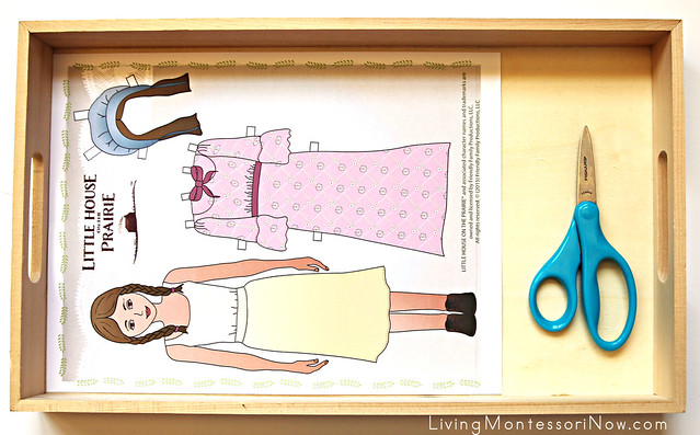 Pioneer Girl and Boy Paper Doll Cutting Activity