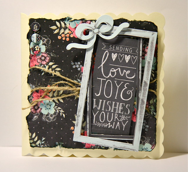 Chalkboard Love, Joy and Wishes Card by StickerKitten