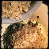 #Homemade #Callaloo #SeasonedRice #CucinaDelloZio - brown rice (chicken stock)