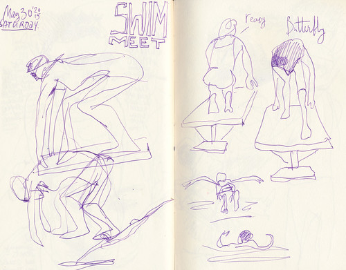 Sketchbook #90 - Swimming at the end of May