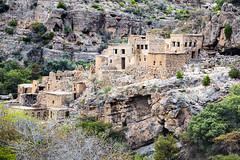 Village en ruines dans le Djebel Al Akhdar