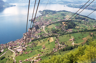 Cable car from Rigi-Kaltbad to Weggis, near Lucerne