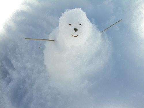 Snowman in Okaimeden