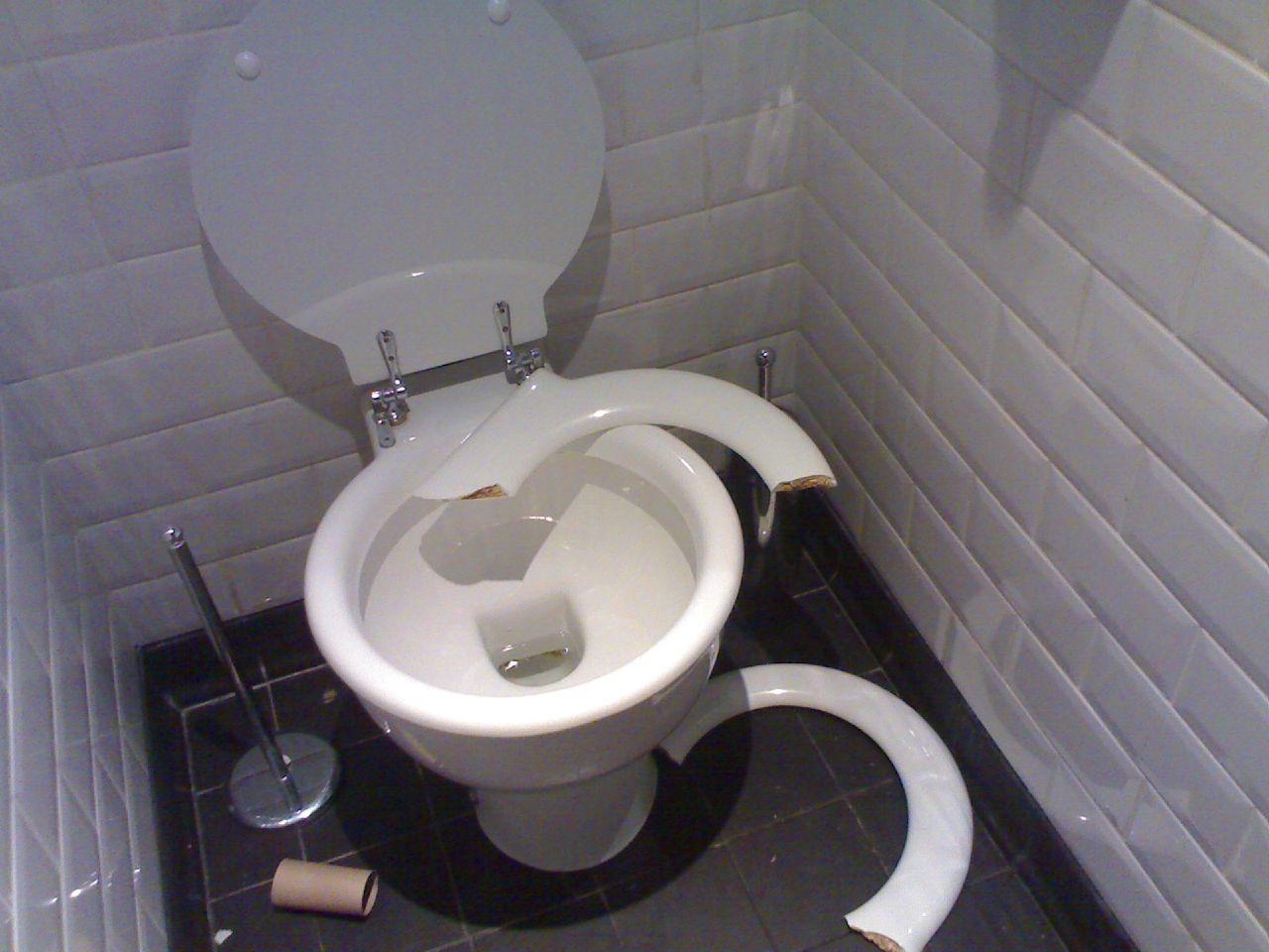 Broken Toilet A Photo On Flickriver