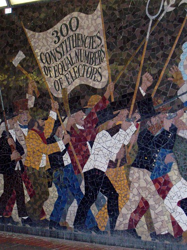 Flickriver random photos from chartist newport pool for Chartist mural newport