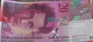 Swiss Franc 20 front