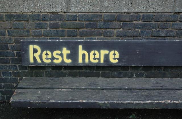 Minimalismo, descansar