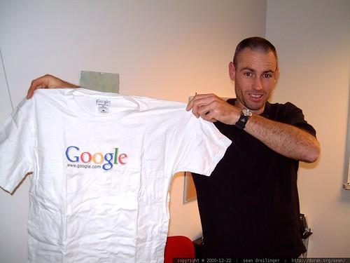 gleeco giving me a google t shirt   dscf1228