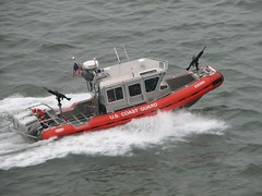 vehicle, sea, boating, motorboat, patrol boat, inflatable boat, rigid-hulled inflatable boat, watercraft, boat, coast guard,