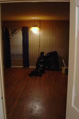 The living room sans carpet