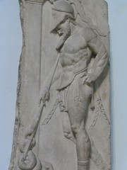 Roman grave relief 1st century. London, British Museum. Photo: Mary Harrsch, flickr: http://bit.ly/ZBVN6K