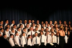 orchestra(0.0), audience(0.0), choir(1.0), musician(1.0), musical theatre(1.0), musical ensemble(1.0), person(1.0), social group(1.0), gospel music(1.0),