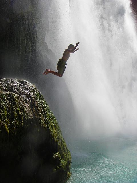 Gregg at Havasupai falls