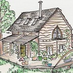 The Woodland Cottage ACEO