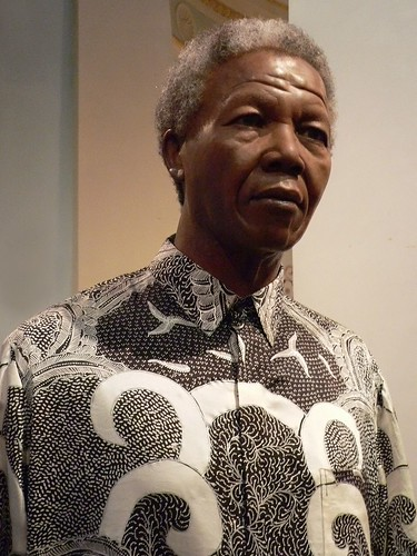 Nelson Mandela at Madame Tussauds in London 2