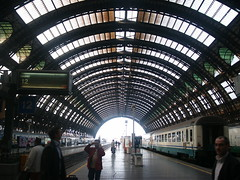 The train station of Milan