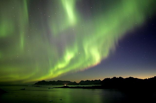 Northern Lights, Greenland from Flickr via Wylio