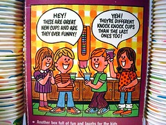 1970's Knock Knock Dixie Cups (back of box)