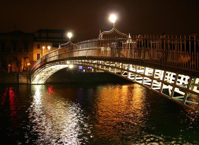 Ha'penny Bridge at Night - 2