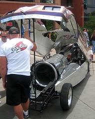 rocket on wheels at car show