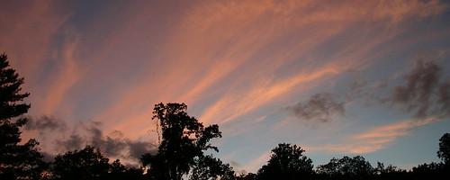 blue sunset sky orange cloud sun clouds virginia widescreen 2006 va endofday bathcountyva