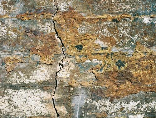 blue texture abandoned wall concrete crack