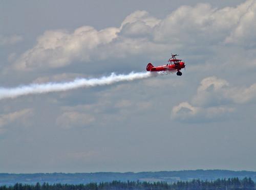 ontario canada airshow biplane stearman armedforcesday cfbborden thirdstrikewingwalking carolpilon