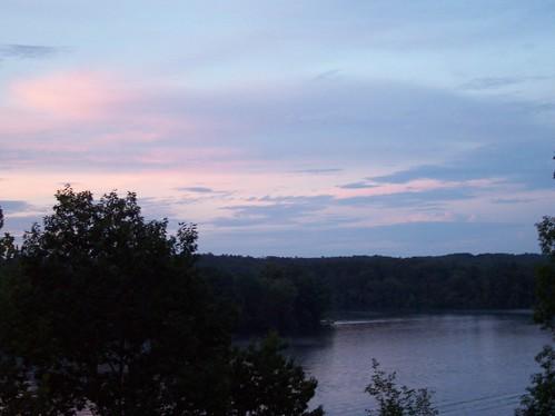 trees sunset sky lake water clouds tanako thebiggestgroup baronsquirrel