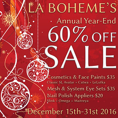 La Boheme Year-End Sale 2016