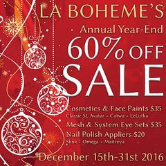 La Boheme Year-End Sale 2016